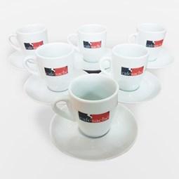 Jogo de Xicaras Porcelana para Café Expresso Modelo Tulipa - 75ml